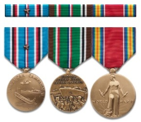 WWII Standard Medals